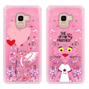 For Samsung Galaxy J4 J6 2018 European Version Fashion PINK Cute Luxury Liquid Case For Samsung A8 Plus J2 Pro Case Coque Funda