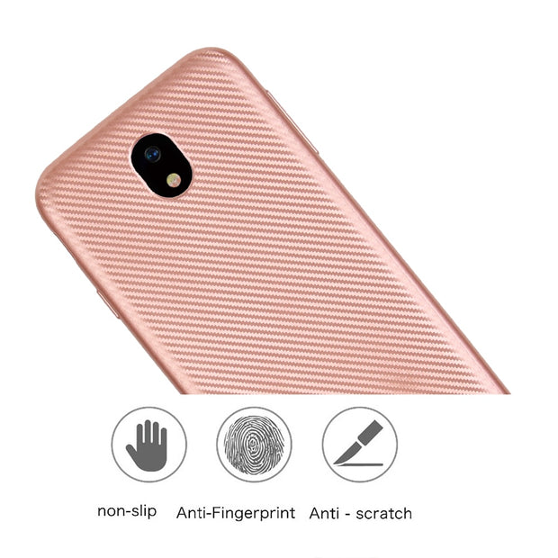 For Samsung Galaxy J7 2017 J730 Case Luxury Shockproof Carbon Fiber Ultra Thin Soft TPU J710 Case J7 2016 Slicone Back Cover