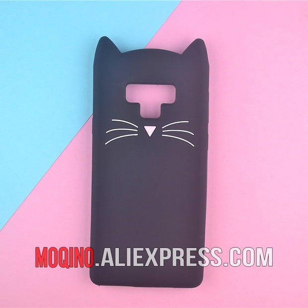 For Samsung Galaxy Note 9 Case Silicone Cartoon Shy Horse Cat Phone Cover Cases For Samsung Note9