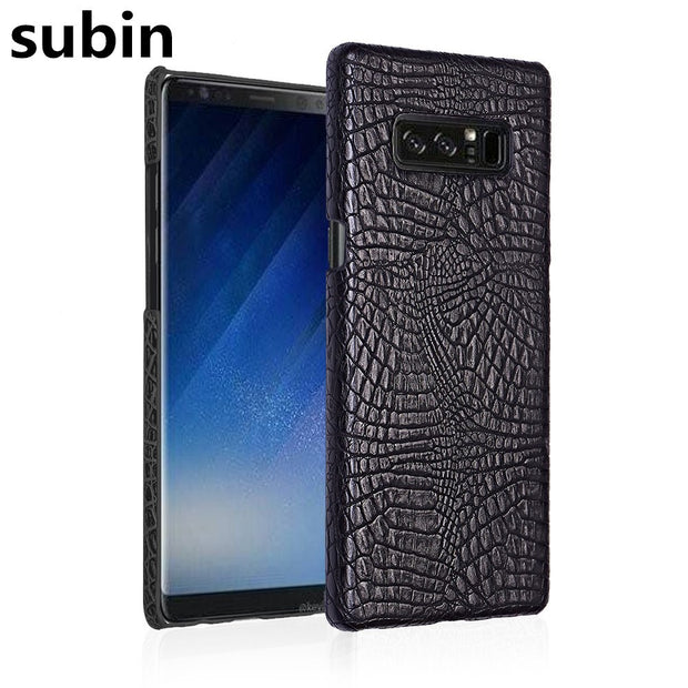 For Samsung Galaxy Note8 N950F 6.3inch Case Retro Crocodile Skin Cover For Samsung Galaxy Note8 Duos Phone Bag Case