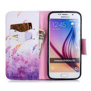 For Samsung Galaxy S6 S 6 Case PU Leather Wallet Cover For Galaxy S6 Magnetic Flip Stand Phone Cases For Coque Samsung S6 Cover
