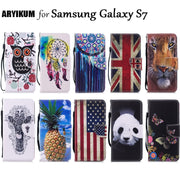 For Samsung Galaxy S7 S 7 Case PU Leather Wallet Cover For Galaxy S7 Magnetic Flip Stand Phone Cases For Coque Samsung S7 Cover