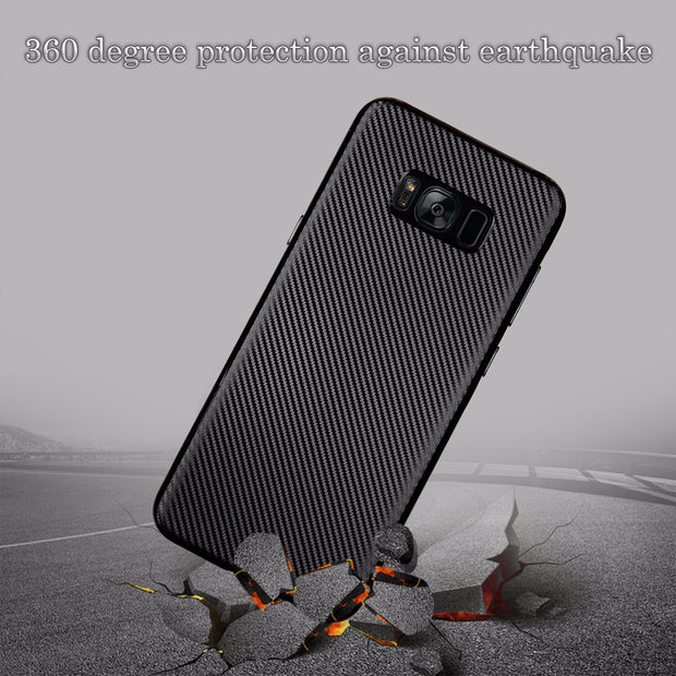 For Samsung Galaxy S8 Case Luxury Shockproof Carbon Fiber Ultra Thin Soft TPU Phone Case For Galaxy S8 Plus Slicone Back Cover