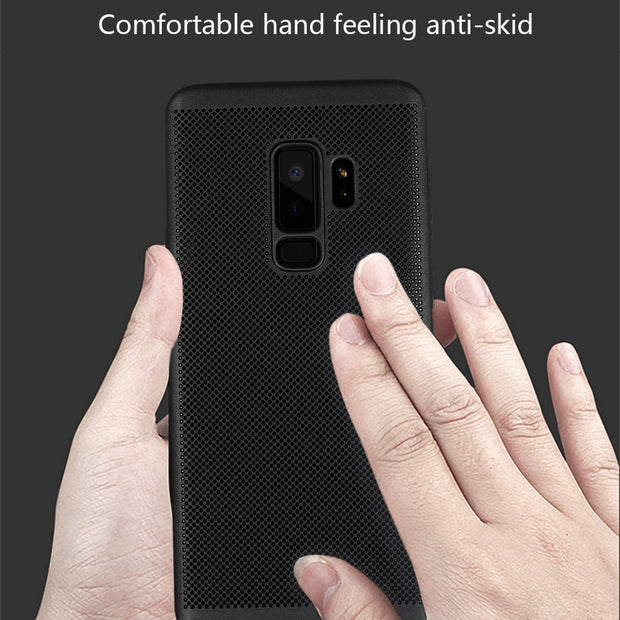 For Samsung Galaxy S9 Plus Case Heat Dissipation Hard Back PC Case Cover For Galaxy A6 A8 2018 A6 A8 PLUS 2018 Phone Shell Bags
