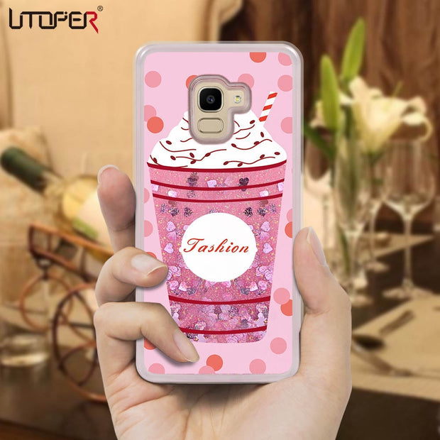 For Samsung J6 2018 Case Pink Liquid Case Cover For Samsung Galaxy J4 J400 J600 Case For Samsung J3 J5 J7 Pro 2017 EU Coque Etui