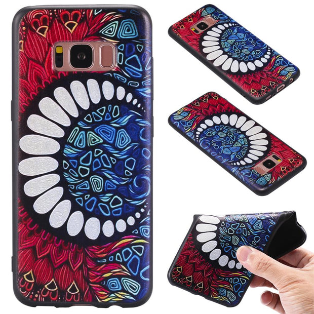 For Samsung S7 S7 Edge S8 S8 Plus Note 8 J5 Prime J7 Prime Fox Unicorn Elephants Silicone Relief Case Cover TPU Phone Cases