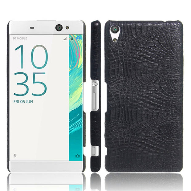For Sony XA Ultra F3211 F3212 Case Crocodile Pattern Hard PC+PU Back Cover Phone Case Cover For Sony Xperia XA Ultra Dual C6