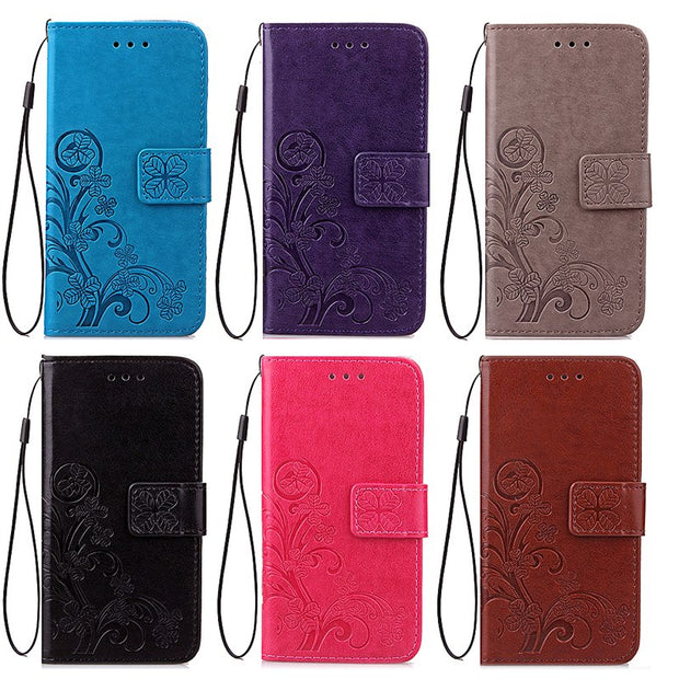 For Sony Xperia XZ1 Compact Case Cover Luxury Bracket Flip Leather & Silicone Wallet Card Holder Stand Case For Sony XZ1 Compact