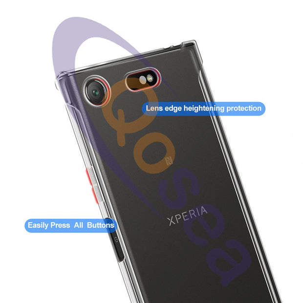 For Sony Xperia XZ1 Compact Case Ultra-Thin Silicone Soft Transparent TPU For Xperia XZ1 XZ2 Compact Anti-knock Protective Cover