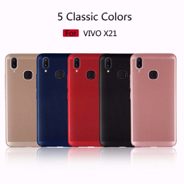For VIVO X21 Case Heat Dissipation Cooling Housing Honeycomb Back Cover For X20 X7 X9S Plus Y55s Y66 Y67 Y53 Accessories Cover