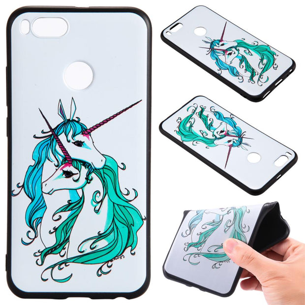 For XiaoMi 5x A1 Redmi Note5 Y1 Note 4 Note 4x 5 Plus Fox Unicorn Elephants Silicone Relief Case Cover TPU Phone Cases