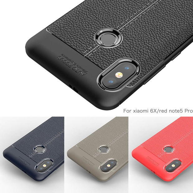 For Xiaomi 6x 6 X MI A2 Case Shy Horse Ice Cream Weave Carbon Fiber Silicon Cover For Redmi Note5 Pro For Xiaomi Redmi Note 5