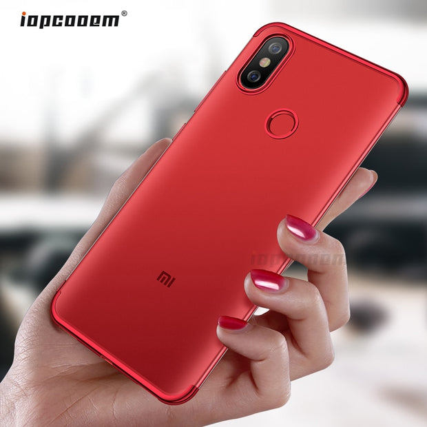 For Xiaomi Mi 8 Lite Case Mi 8 SE Cover Luxury TPU Soft Silicone Plating Clear Case For Xiaomi Mi A2 Mi 6X Phone Cases Coque