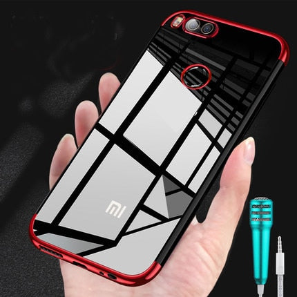 For Xiaomi Mi A1 5X Mi6 Case Soft TPU Ultra Thin Plating Transparent Protective Back Cover Cases For Xiaomi Mi Mix2 2S Shell