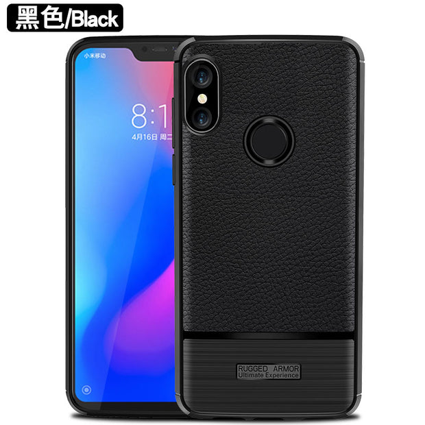 For Xiaomi Redmi 6 Pro Case Redmi6 Pro Litchi Leather Grained Anti-fingerprint TPU Shockproof Back Cover For Xiaomi Redmi 6 Pro
