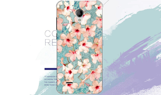 For Digma Linx A400 3g Case Soft Tpu Back Cover Painting Colored Flowers Fruit Silicone Phone Bags Free Shipping