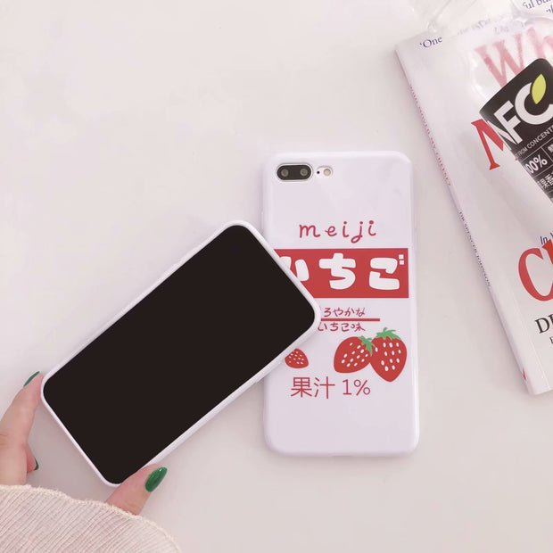 For IPhoen 8 Fashion Fruit Pattern Strawberry Candy TPU Solf White Cover Phone Case For IPhone 6S 7 8 Plus X Fashion Capa Funda