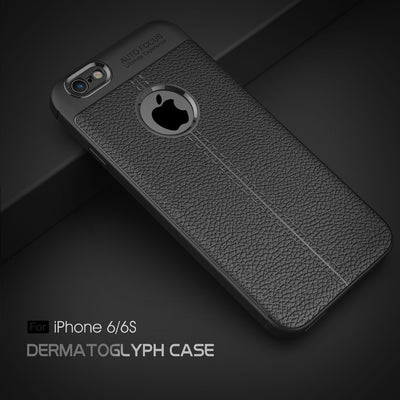 For IPhone 6 Case Luxury Shockproof Soft TPU Case For IPhone 7 Cases Leather Desgin Cover For IPhone 8 Case Coque Fundas Capa