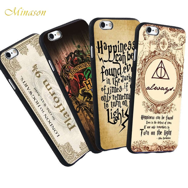 For iPhone 6s Case Harry Potter Always Quotes Soft Silicone Case for iPhone X 7 5 620x