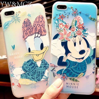 For IPhone 8 Plus Case Minnie Mouse Cute Soft Mobile Phone Cover For IPhone 6 6s IPhone 7 Plus Case Daisy Duck For IPhone X Case