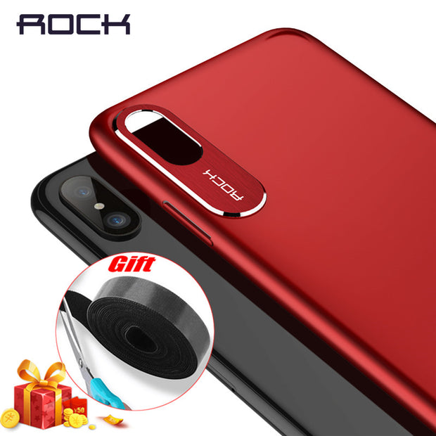 detailed look 3a646 71d33 For IPhone X Case ROCK Luxury Business Style Metal Phone Camera Protection  Transparent Case For IPhone X Cover