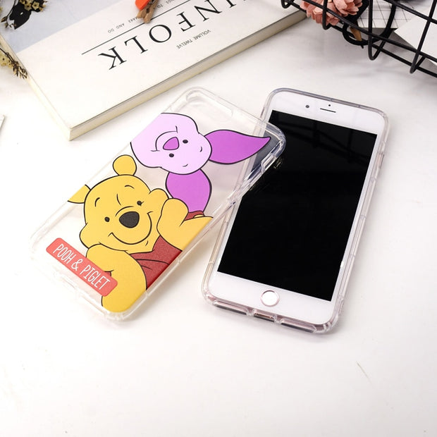 For Iphone 7 8 Plus X Painting Soft Tpu Pooh Donald Minnie Nemo ChipTransparent Cell Phone Case Cover For Iphone 6 6s Plus