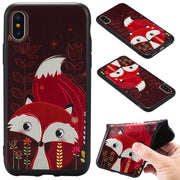 For Iphone X Case Cover TPU Phone Cases For Iphone 8 6 6S PLus 7plus Fox Unicorn Elephants Silicone Relief Case