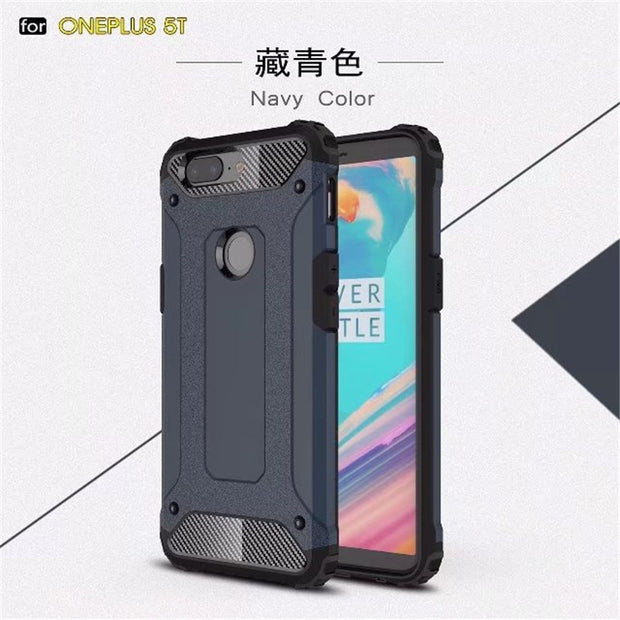 For Oneplus 5t Case Cover Funda New Luxury Shockproof Bumper Protect For One Plus 5t Smartphone Case Back Cover Coque 6.01