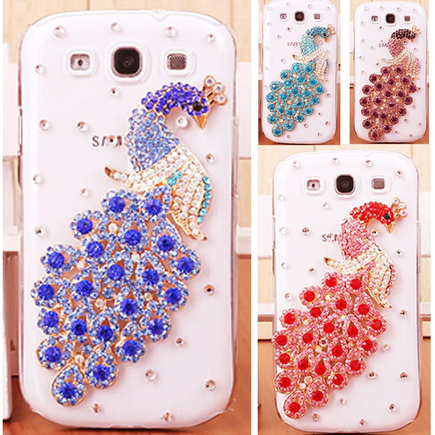 For Samsung J5 2016 Version Peacock Rhinestone Hard PC Case For Samsung Galaxy J5 2016 J510 J5108 J510F SM-J510F Cover 5.2 Inch
