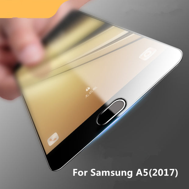 Full Coverage For Samsung Galaxy A5 2017 Case Tempered Glass Film 9H Premium Screen Protector For A520 5.2inch