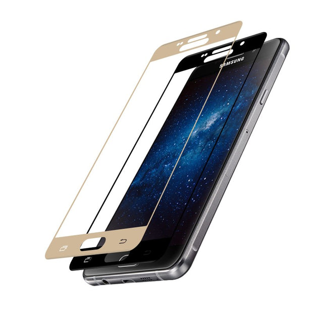 Full Coverage For Samsung Galaxy A710 Case Tempered Glass Film 9H Premium Screen Protector For A7(2016) 5.5inch