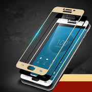 Full Coverage For Samsung Galaxy A720 Case Tempered Glass Film 9H Premium Screen Protector For A7(2017) 5.7inch