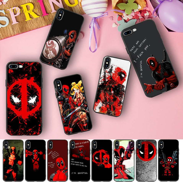 Funny Deadpool Quotes Capa Silicone Case For IPhone X 5S XR ...