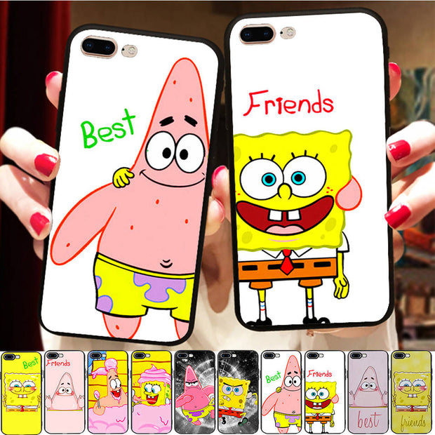 Funny Spongebob Patrick Bff Case Cover For Iphone X 8 5 Se 5s Xr Xs Ma Nox Cases