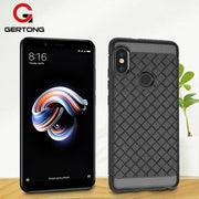 GerTong Grid Weave Silicone Phone Case For Xiaomi Redmi Note 5A Prime 5Pro Redmi 5 Plus 4X Note 4 Cases Cover Mi A1 5X Mi6X