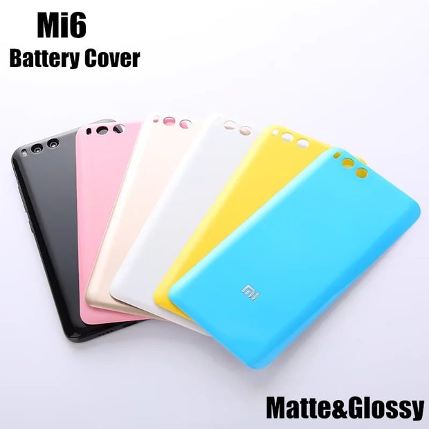 Glossy&Matte&Wood Bamboo Pattern Back Battery Cover Case For Xiaomi Mi 6 Mi6 M6 Housing Replacement Parts+Free Open Tool Sucker