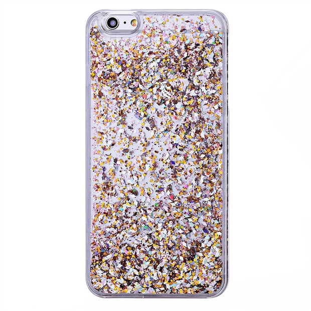 GrandEver Quicksand PC Case For IPhone 6 6s Plus Case Hard Anti Knock Cover Glitter Bling Funda For IPhone 6 6s Plus Back Cover