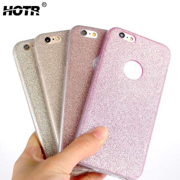 HOTR For Iphone 8 Bling Case Flexible Soft TPU Cover For Iphone 7 Back Phone Case For Iphone 7 Plus 8 Plus Fashion Slim Case Bag