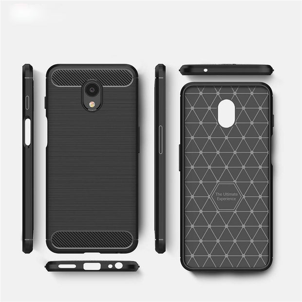 "HOTSWEI For Meizu M6s Case 5.7"" Luxury Brushed Carbon Fiber Soft Rubber ShockProof Protective Case For Meizu M6s Meilan S6 Cover"