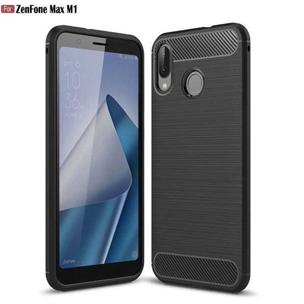 "HOTSWEI ZenFone Max M1 Case 5.5"" Carbon Fiber Soft Rubber ShockProof Protective Case For Asus ZenFone Max M1 SD425 SD430 Cover"