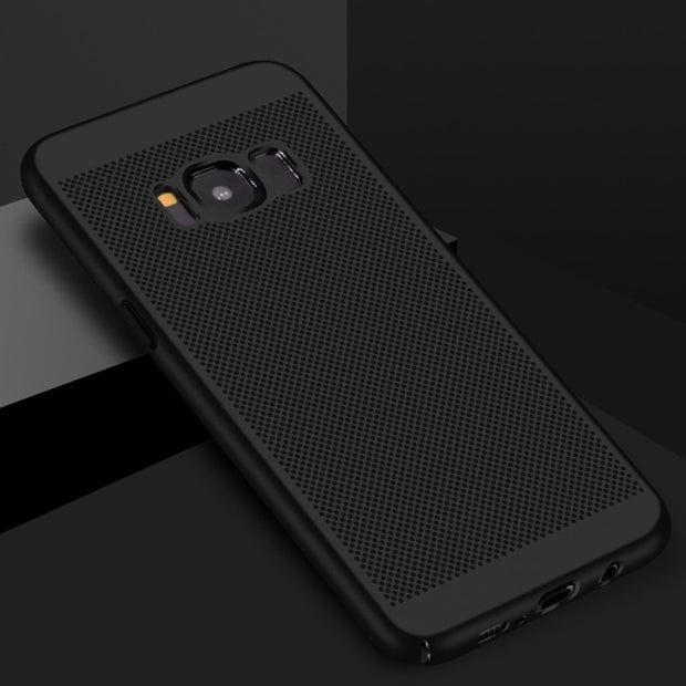 Heat Dissipation Case For Samsung Galaxy S8 S7 S6 Edge A3 A5 A7 J3 J5 J7 2017 Hard Back PC Full Cover Case For Galaxy S8 Plus