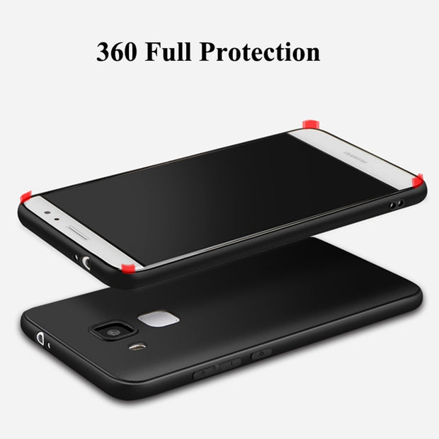 HereCase Cover For Huawei Honor 5X Case 360 Protection Soft Silicone Housing Slim Matte Design Phone Cases For Huawei GR5