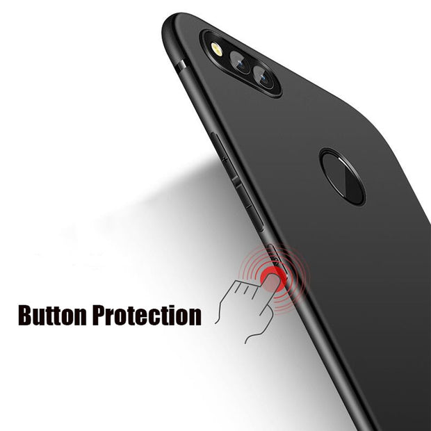 HereCase Cover For Huawei Honor 7A Pro Case Full Protection Soft Silicone Matte Phone Cases For Huawei Honor 7A Pro Prime