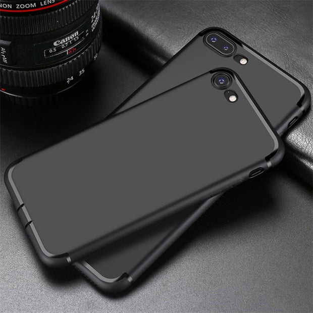 HereCase Cover For IPhone 8 Case 360 Protection Soft Silicone Housing Slim Matte Phone Cases For IPhone8 IPhone 8 Plus 7 7Plus