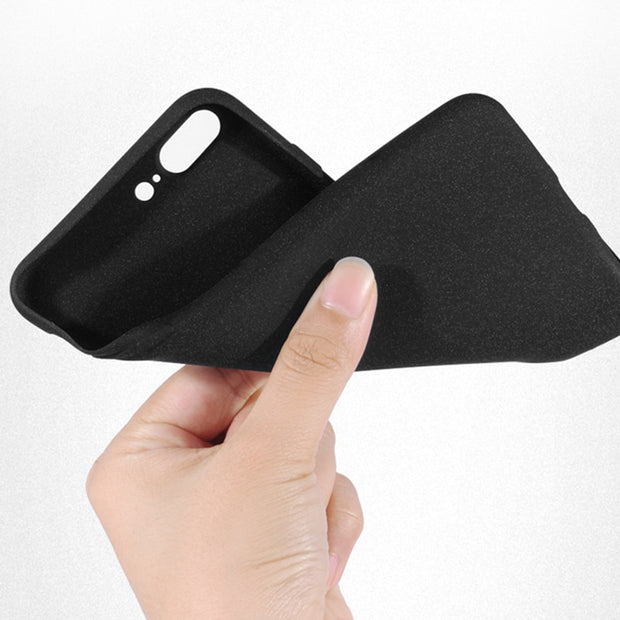 HereCase Ultra Thin Phone Cases For Iphone X Case Soft Silicone TPU Matte Cover For IPhone 8 7 6 6S Plus Plain Protection Coque