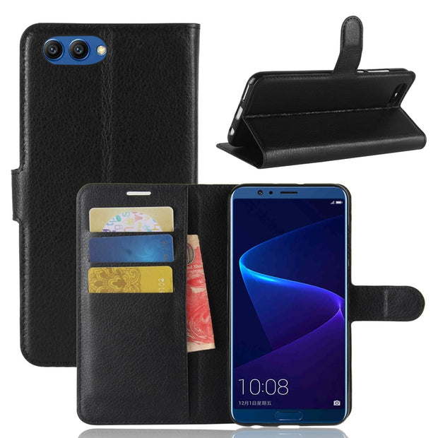Hot For Huawei Honor View 10 Case 5.99inch Wallet Style PU Leather Phone Cover For Huawei Honor V10 Phone Case With Card Slots