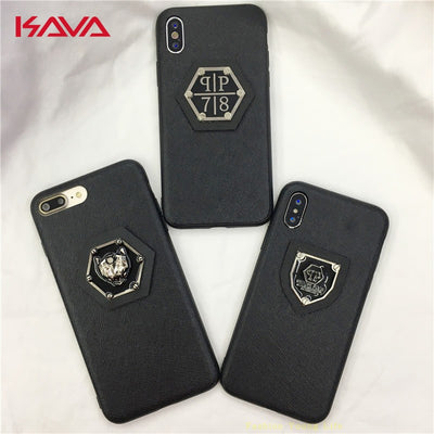 Hot Tiger PHILIPP PLEIN Leather Hard Plastic Cover Case For Iphone 5 5S SE 6 6S S Plus 7 7plus 8 8plus X Luxury Brand Phone Case
