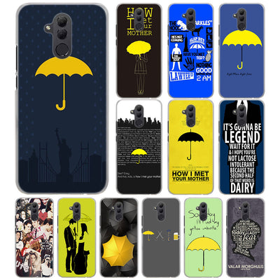 How I Met Your Mother Phone Case For Huawei Mate 20 Pro 20 Lite 10 Pro Hard PC Case For Huawei Mate 10 Lite Case Cover