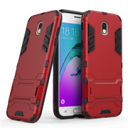 Hybrid Case Capinha For Samsung Galaxy J330 J3 2017 European Version Cover Hard PC And TPU Back Armor Bracket Mobile Phone Case