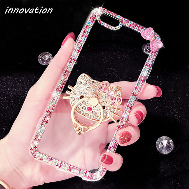 Innovation Diamond Cover For Iphone 7 7plus Case For Iphone 6S 6 Plus 5S SE Luxury Glitter Bling Rhinestone Crystal Phone Cases